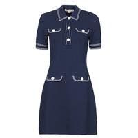 Kleidung Damen Kurze Kleider MICHAEL Michael Kors CONTRAST STITCH BUTTON DRESS Marine