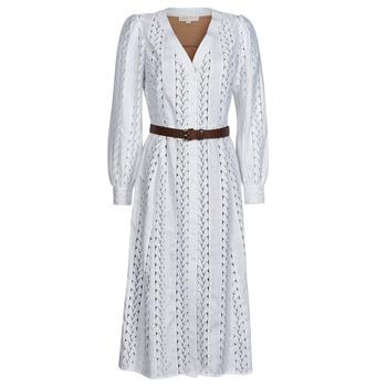 Kleidung Damen Maxikleider MICHAEL Michael Kors ROPE STRIPES HEMP DS Weiss