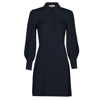 Kleidung Damen Kurze Kleider MICHAEL Michael Kors VI SATIN MINI DRESS Marine