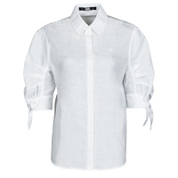 Kleidung Damen Hemden Karl Lagerfeld LINENSHIRTW/BOWS Weiss
