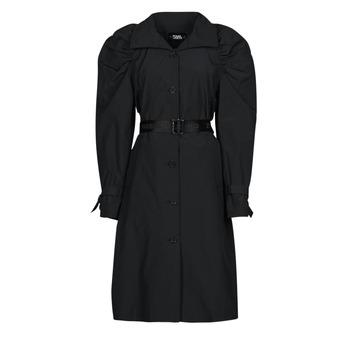 Kleidung Damen Trenchcoats Karl Lagerfeld DRAPEDTRENCHCOAT Schwarz