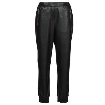 Kleidung Damen 5-Pocket-Hosen Karl Lagerfeld FAUXLEATHERJOGGERS Schwarz