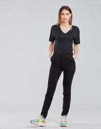 Kleidung Damen 5-Pocket-Hosen Karl Lagerfeld SUMMERPUNTOPANTS Schwarz