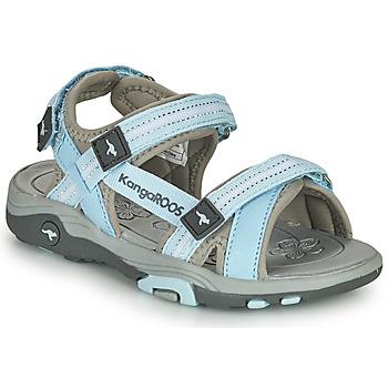 Schuhe Kinder Sandalen / Sandaletten Kangaroos K-LENI Blau / Grau
