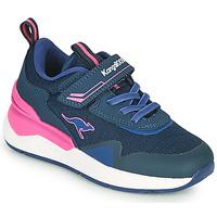 Schuhe Mädchen Sneaker Low Kangaroos KD-GYM EV Blau / Rose