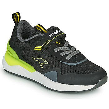 Schuhe Jungen Sneaker Low Kangaroos KD-GYM EV Schwarz / Gelb