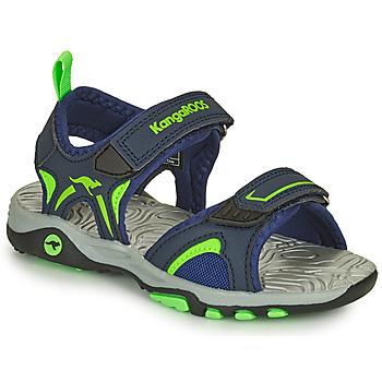 Schuhe Jungen Sandalen / Sandaletten Kangaroos K-MONT Blau / Grün