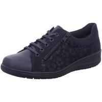 Schuhe Damen Sneaker Low Solidus Schnuerschuhe Kate LAS VEGAS/NUB/SAM nightbl 29001 80349 80349 blau