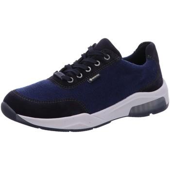Schuhe Herren Sneaker Low Ara Schnuerschuhe Los Angeles 36028-05 blau