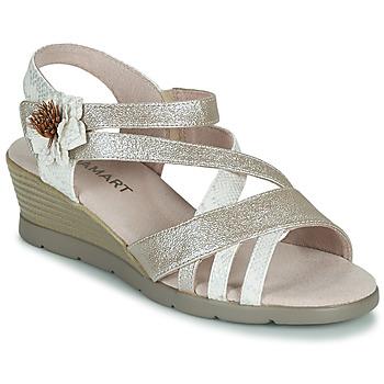 Schuhe Damen Sandalen / Sandaletten Damart 61170 Silbern