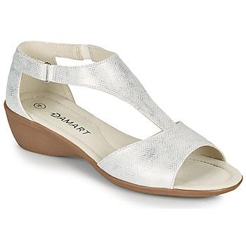Schuhe Damen Sandalen / Sandaletten Damart 49019 Silbern