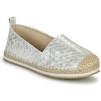 Schuhe Damen Leinen-Pantoletten mit gefloch Bullboxer 186000F4S Silbern