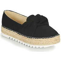 Schuhe Damen Leinen-Pantoletten mit gefloch Bullboxer 155001F4T Schwarz