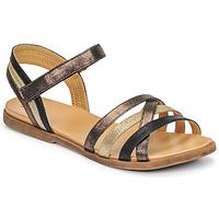 Schuhe Mädchen Sandalen / Sandaletten Bullboxer ALM003F1S-ROSE Schwarz