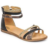 Schuhe Mädchen Sandalen / Sandaletten Bullboxer ALM013F1S-ROSE Schwarz