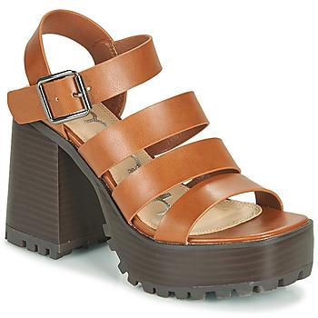 Schuhe Damen Sandalen / Sandaletten Emmshu DITA Cognac