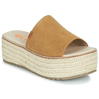 Schuhe Damen Pantoffel Emmshu NELIE Cognac