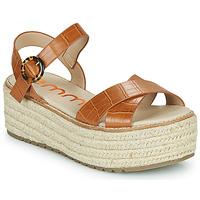 Schuhe Damen Sandalen / Sandaletten Emmshu NESA Cognac