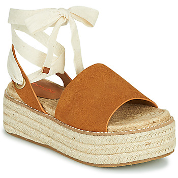 Schuhe Damen Sandalen / Sandaletten Emmshu SEARA Cognac