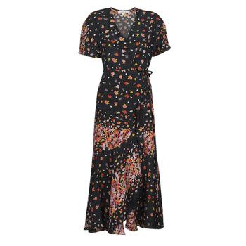 Kleidung Damen Maxikleider Derhy SUEDE Schwarz / Multicolor