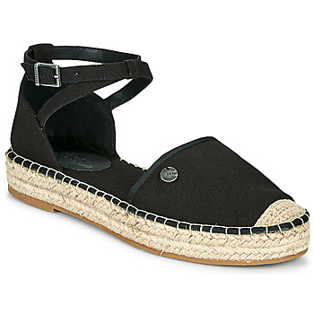 Schuhe Damen Leinen-Pantoletten mit gefloch Esprit TUVA Schwarz