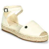 Schuhe Damen Leinen-Pantoletten mit gefloch Esprit TUVA Weiss