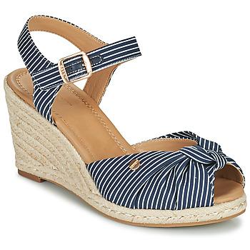 Schuhe Damen Sandalen / Sandaletten Esprit ELIN Blau / Weiss