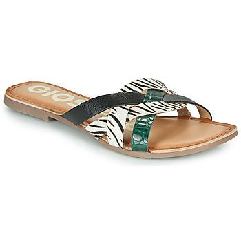 Schuhe Damen Pantoffel Gioseppo STILES Schwarz / Weiss