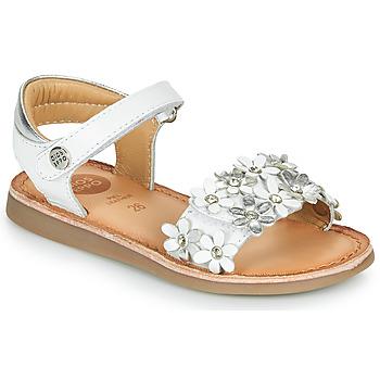 Schuhe Mädchen Sandalen / Sandaletten Gioseppo MAZARA Weiss / Silbern