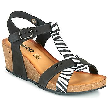 Schuhe Damen Sandalen / Sandaletten IgI&CO JOULIA Schwarz / Weiss