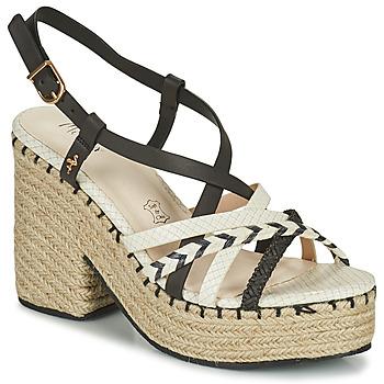 Schuhe Damen Sandalen / Sandaletten Menbur BALMUCCIA Schwarz / Weiss