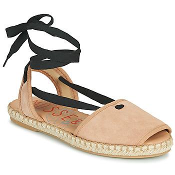 Schuhe Damen Leinen-Pantoletten mit gefloch Musse & Cloud ONDARA Rose