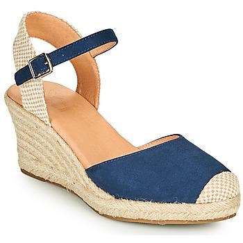 Schuhe Damen Leinen-Pantoletten mit gefloch Xti ALFED Marine
