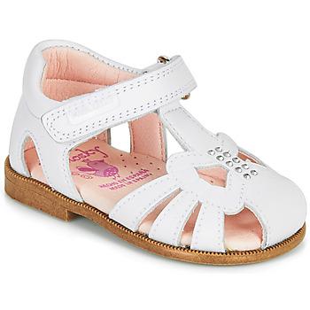 Schuhe Mädchen Sandalen / Sandaletten Pablosky PAMMO Weiss
