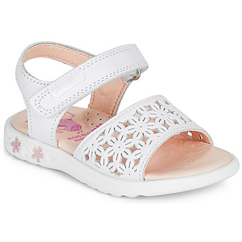 Schuhe Mädchen Sandalen / Sandaletten Pablosky DROSSI Weiss / Rose