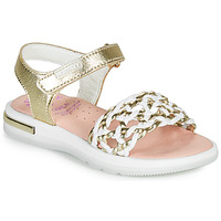 Schuhe Mädchen Sandalen / Sandaletten Pablosky DANIE Gold / Weiss