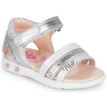 Schuhe Mädchen Sandalen / Sandaletten Pablosky ELLO Silbern
