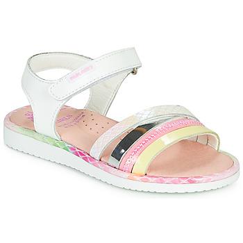 Schuhe Mädchen Sandalen / Sandaletten Pablosky MOUNNA Weiss / Rose