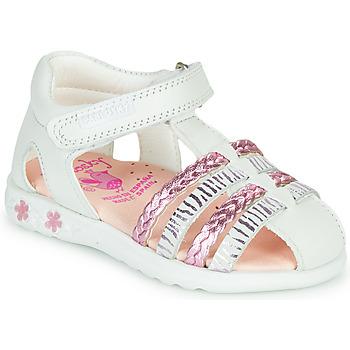 Schuhe Mädchen Sandalen / Sandaletten Pablosky ELLA Weiss / Rose
