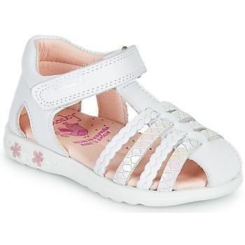 Schuhe Mädchen Sandalen / Sandaletten Pablosky TONNI Weiss / Rose