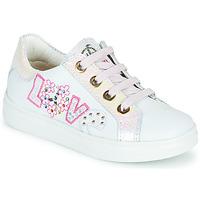 Schuhe Mädchen Sneaker Low Pablosky AMME Weiss / Rose