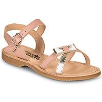 Schuhe Mädchen Sandalen / Sandaletten Citrouille et Compagnie JISCOTTE Rose / Silbern