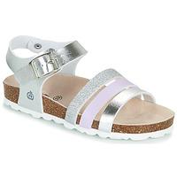 Schuhe Mädchen Sandalen / Sandaletten Citrouille et Compagnie OMAYA Silbern