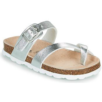 Schuhe Mädchen Pantoffel Citrouille et Compagnie OMILA Silbern