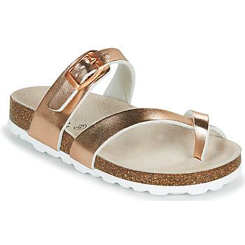 Schuhe Mädchen Pantoffel Citrouille et Compagnie OMILA Rose / Gold