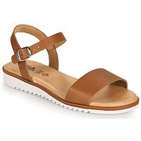Schuhe Mädchen Sandalen / Sandaletten Citrouille et Compagnie GLAPOTTI Camel