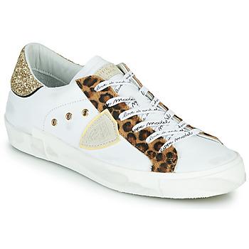 Schuhe Damen Sneaker Low Philippe Model PARIS Weiss / Leopard