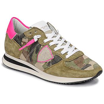 Schuhe Damen Sneaker Low Philippe Model TROPEZ X Camouflage