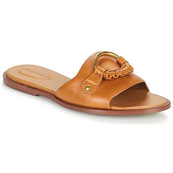 Schuhe Damen Pantoffel See by Chloé HANA SB3305 Cognac