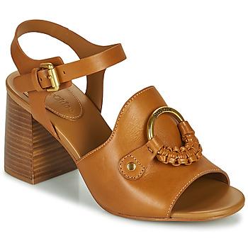 Schuhe Damen Sandalen / Sandaletten See by Chloé HANA SB3406 Cognac